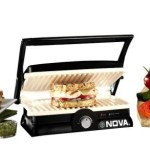 Nova 3 in 1 Panni Grill Press with Adjustable Temperature Control and Ceramic