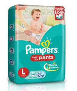 Amazon Offer : Pampers Large Size Diaper Pants (52 Count)
