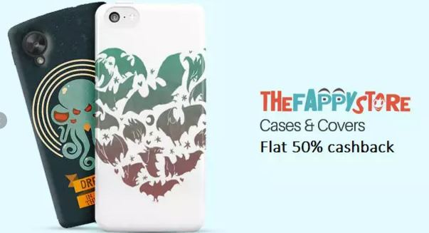 PaytM-Mobile Case Covers & Flip Covers -Flat 50 percent cashback