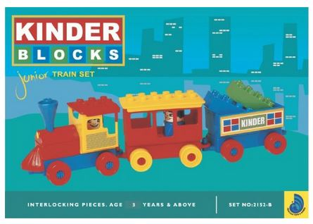Peacock Kinder Blocks Junior Train Set
