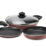 Buy Flipkart Offer : Prestige Omega Deluxe Cookware Set Pan, Kadhai Set(Non-stick)