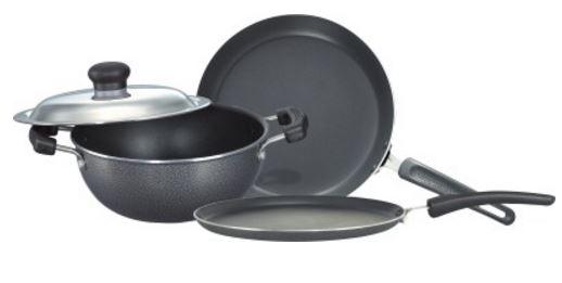 Buy Flipkart Offer : Prestige Omega Select Plus BYK Non Stick Pan, Tawa, Kadhai Set