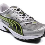 PayTM : Puma Grey And Green Pluto DP Sport Shoes