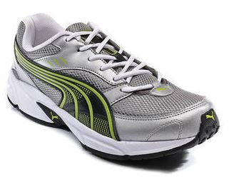 PayTM : Puma Grey And Green Pluto DP Sport Shoes