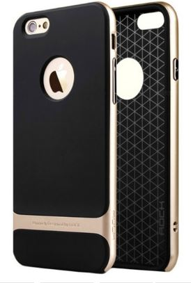 Rock Back Cover for Iphone 6 (Gold) Price: Rs. 590