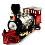 Rocky Mountain Smoking Loco Bump & Go Train with sounds (Silver Red)