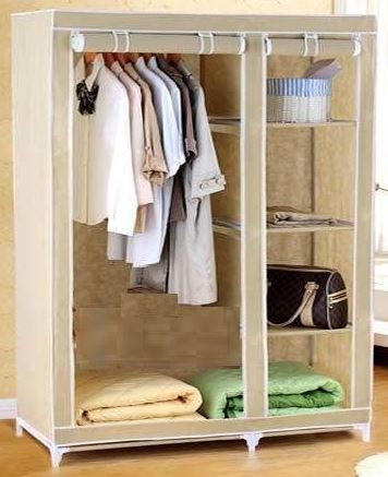 eBay Offer : SUPER- Folding Wardrobe Cupboard Almirah-IV-CRM Best Quality @ Rs 1349