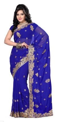 Saree Swarg Self Design Bollywood Georgette Sari Price: Rs. 1,190