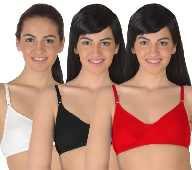 Selfcare Set Of 3 Non-Paddded Women's Full Coverage Bra