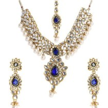 Shining Diva Kundan Pearl Drops Alloy Jewel Set
