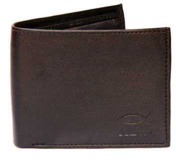 Soft Leather Money Wallet Purse for Men Gents with Card Slots - Black