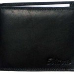 SnapDeal : Solitario Formal Black Leather Wallet for Men