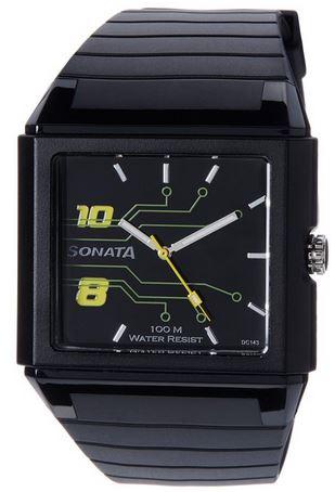 Sonata Ocean Analog Black Dial Men's Watch