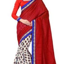 Sourbh Sarees Silk Blend Must Have Best Sarees for Women Party Wear, Diwali Durga Pujo Gifts for Wife, Women Clothing Collection