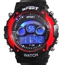 Sport Black And Red Digital Kids Watch