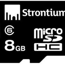Strontium 8GB MicroSDHC Memory Card
