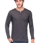 TSX Solid Men's Henley T-Shirt Price: Rs. 329