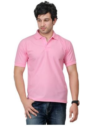 TSX Solid Men's Polo Neck T-Shirt Price: Rs. 243