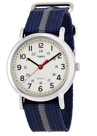 Timex Weekender Indiglo Analog Beige Dial Unisex Watch