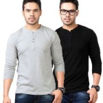 Buy Flipkart Offers Top Notch Solid Men's Henley T-Shirt (Pack of 2) @ Price: Rs. 669