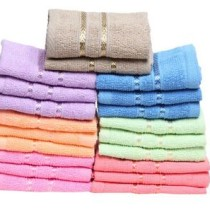 SnapDeal : Towel Town – Set of 20 Face Towels (10×10 inches)