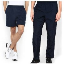 Trendy Blue And Black Polyester Shorts And Trackpant Combo