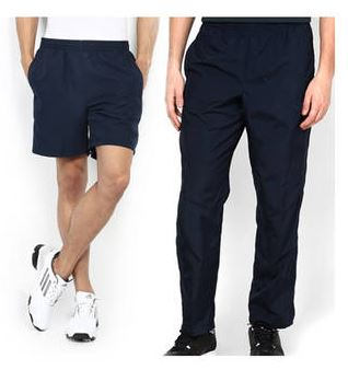 PayTM : Trendy Blue And Black Polyester Shorts And Trackpant Combo