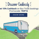 Get 15% (upto Rs ​200) C​ash​back​ on Bus ticket bookings from PayTM