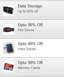 Buy Amazon india offering Upto 50% Off on Data Storage online