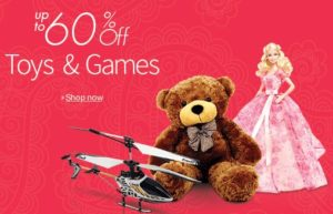 Upto 60 percent OFF on Toys & games