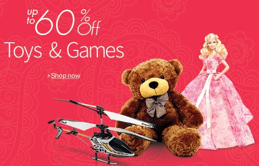 Buy Amazon Flat Up to 60% Off Toys & Games Online