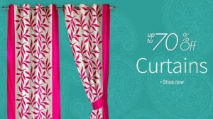 Upto 70 percent OFF on curtains