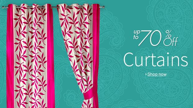 buy amazon india offering upto 70 discount on the curtains online