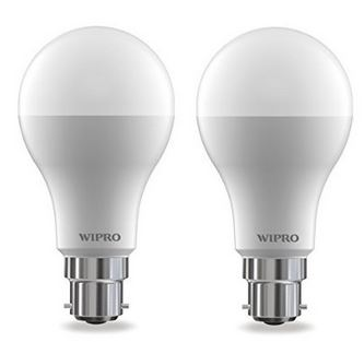 Wipro Garnet 14-Watt LED Bulb (Pack of 2, Cool Day Light)