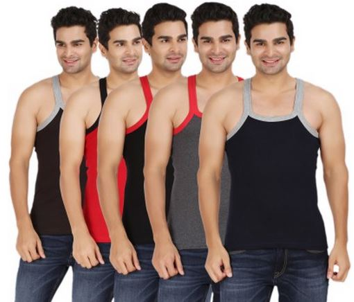Buy Flipkart Offer Wyatt ML-5 Men's Vest (Pack of 5) Price: Rs. 392