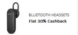 PayTM Offers 30% Cashback on Bluetooth Headsets Online
