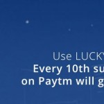 Get Every 10th Successful recharge on Paytm will get 100% Cashback