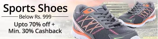 PayTM : Min 30% Cashback on the men/women footwear