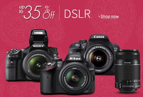 Buy Amazon india offering Digital SLRs Camera's upto 35% Discounts online
