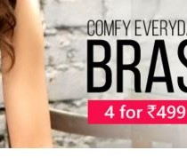 4 bras for Rs 499