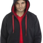 AWG (Music Hoodie) Sweat shirt Hooded withzip Inbuilt Ear Phone