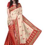 Aruna Sarees Embriodered Assam Silk Handloom Silk Saree @ Rs 699