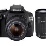 Amazon EOS 1200D 18MP Digital SLR Camera (Black) with 18-55mm and 55-250mm IS II Lens,8GB card and Carry Bag