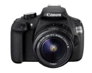 Canon EOS 1200D 18MP Digital SLR Camera (Black) with EF-S 18-55mm f 3.5-5.6 IS II Lens, 8GB Card and Carry Bag