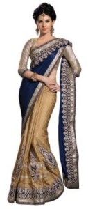 Chirag Sarees Embriodered Fashion Crepe Sari