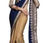 Chirag Sarees Embriodered Fashion Crepe Sari @ Rs 2751