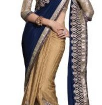 Chirag Sarees Embriodered Fashion Crepe Sari
