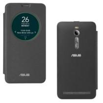 DMG Smart Circle View Flip Book Cover Case For Asus Zenfone 2 (Black)