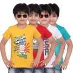 Dongli Printed Boy's Round Neck T-Shirt (Pack of 4) Price: Rs. 799
