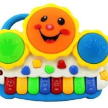 Drum Keyboard Musical Toys with Flashing Lights, Animal Sounds & Songs - Battery Operated Kids Toys